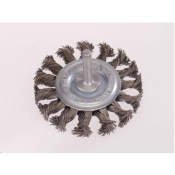 Zopf-Rundbürsten mit 6 mm Schaft Drm 75 x 12 mm 18 Z mit Blume rechts gezopft Stahldraht STH