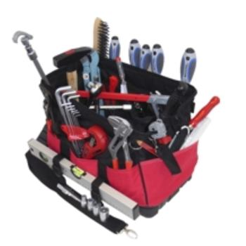 Textiltasche 7-TGU, komplett, mit Sanitär-Service- Werkzeugpaket 7, 37-teilig