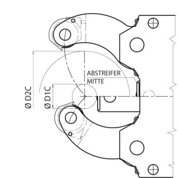 ABSTREIFER MITTE F.SLZ-324+SLZ325RZ