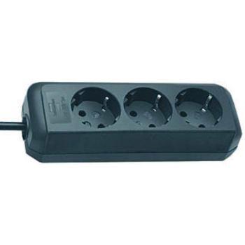 Eco-Line Steckdosenleiste 3-fach schwarz 1,5m H05VV-F 3G1,5