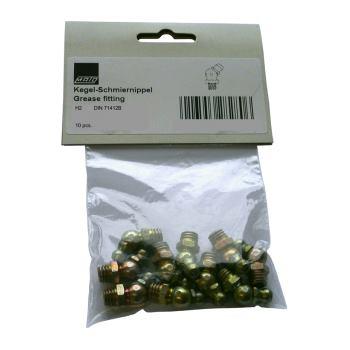 Hydraulik-Kegel-Schmiernippel H2 M8x1 DIN 71412B