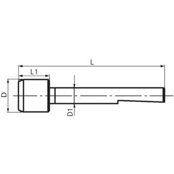Führungszapfen ohne Gewinde Größe 02 5 mm GZ 3020