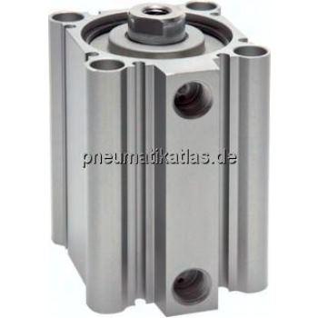 Kompaktzylinder, doppeltwir- kend, Kolben Ø 50 mm,Hub 75mm