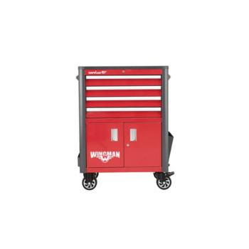 Werkstattwagen WINGMAN, 4 Schubladen, rot/anthrazi t