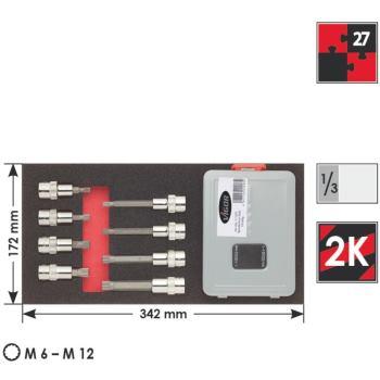 Weichschaumeinlage 1-2 Vielzahn-Werkz.
