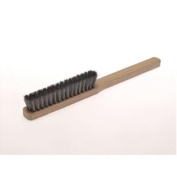 Feinbürsten 225x20 mm 4 rhg. Stahldraht STA gew . 0,15 mm hoch 20 mm
