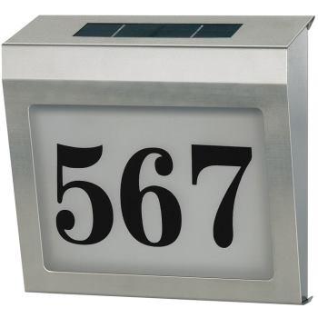 Beleuchtete Solar Hausnummer Solar Power SH 4000 1