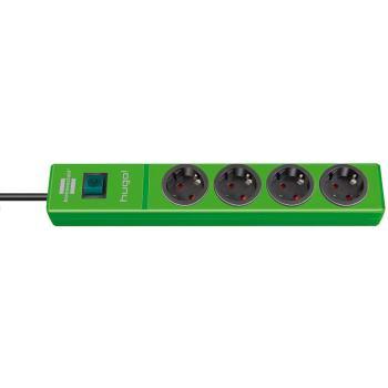 hugo! Steckdosenleiste 4-fach grün 2m H05VV-F3G1,5