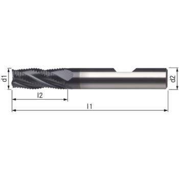 Schaftfräser HSSE8-TICN 16 mm HR K Schaft DIN 183