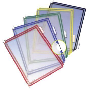 Klarsichttafeln blau 10 Stück 385 x 245 x 50 mm bl