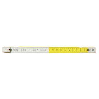 Holz-Gliedermaßstab, weiß/gelb, 2m 300.0063