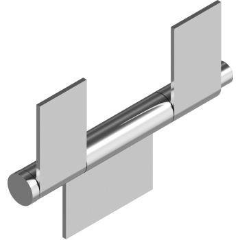 Anschweißscharniere m. 3 Flügel - Edelstahl A2 Typ 11 L=110 mm