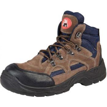 ASS Luka Sicherheits-Stiefel S1P braun blau | 47