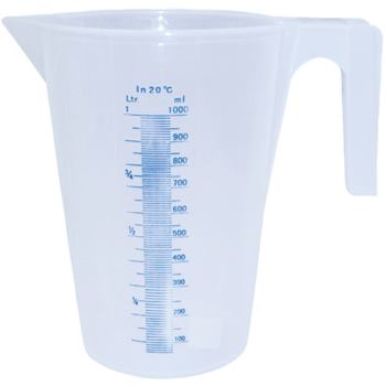 Messbecher aus Polypropylen 1 Liter transparent
