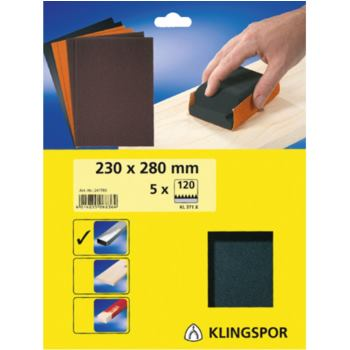 Finishingpapier 5er-Pack Korn 120, Typ PL 31 Blat