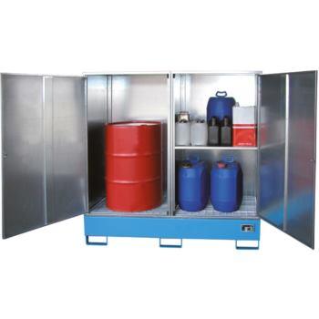 Gefahrstoff-Schrank f.2x200 Länge Fässer LxBxH 168