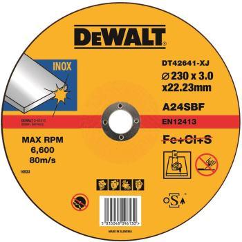 Standard Edelstahl-Trennscheibe - flach DT42641