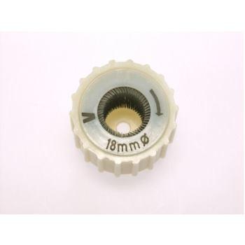 Fittingbürsten zur Außenreinigung Kunststoffkörpe r gerippt Drm 39/12 mm