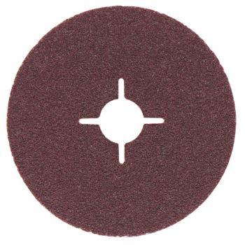 Fiberscheibe 180 mm P 80, Normalkorund, Stahl, NE-