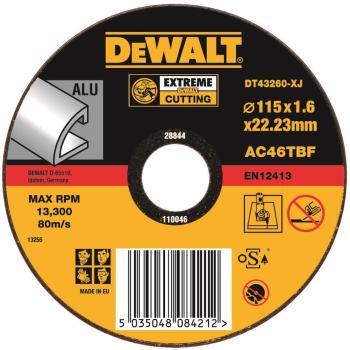 EXTREME Aluminium Trennscheibe - flach DT43260