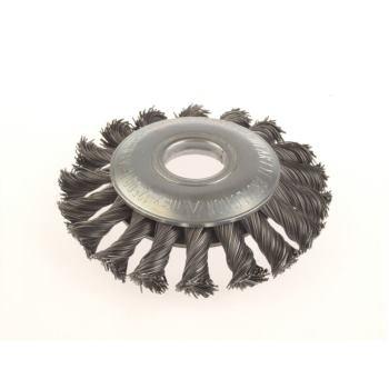 Zopf-Kegelbürsten Drm 100 x 12 mm 18 Z Stahldra ht STH glatt 0,50 mm Bohrung 22,2 mm
