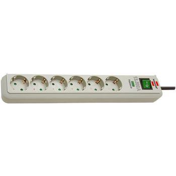 Eco-Line 13.500A Überspannungsschutz-Steckdosenleiste 6-fach lichtgrau 1,5m H05VV-F 3G1,5