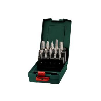Hartmetall-Fräser-Set, Schaft 6 mm, 10-teilig