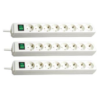 Eco-Line Steckdosenleiste mit Schalter 8-fach weiß