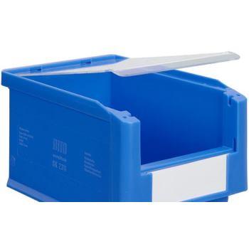 Staubdeckel, für Sichtlagerkästen SK224 x 124 x 2, glasklar