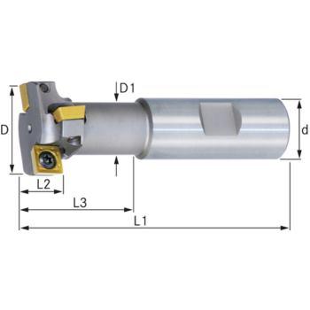 T-Nutenfräser mit Innenkühlung Durchmesser 25 mm