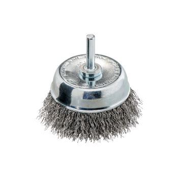 Stahldraht-Topfbürste mit Spannschaft 6mm