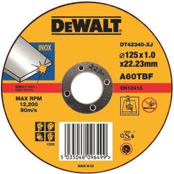 Standard Edelstahl-Trennscheibe - flach DT42340