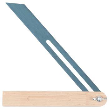 Verstellbarer Winkel mit Holzschenkel, 250mm, Holz