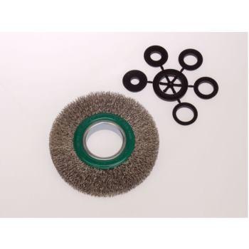 Rundbürsten Drm 125 mm breit 21-23 mm Rohr 40 m m Stahldraht rostfrei ROF gew. 0,30 mm