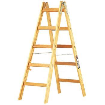 Holz-Stehleiter 2x5 Sprossen Höhe Stehleiter 1,32m