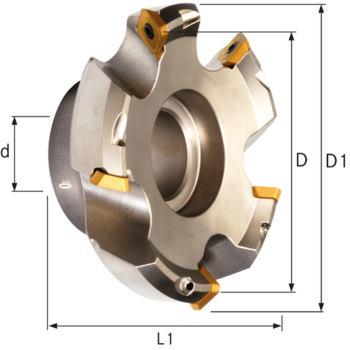 Planmesserkopf 45 Grad 63 mm für Wendeschneidplat
