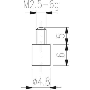 Messeinsatz Typ 10 HM plan, Durchmesser 4,8 mm