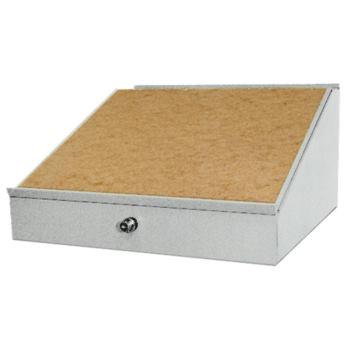 Schreibpult - Aufsatz 500 x 500 mm RAL 7035
