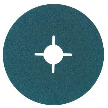 Fiberscheibe 125 mm P 80, Zirkonkorund, Stahl, Ede