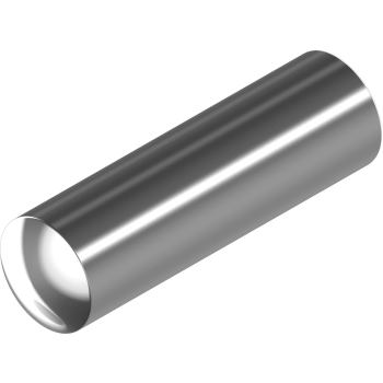 Zylinderstifte DIN 7 - Edelstahl A1 Ausführung m6 2x 4