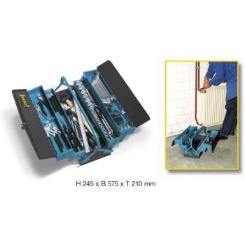 Metall-Werkzeugkasten mit Sortiment 190/80