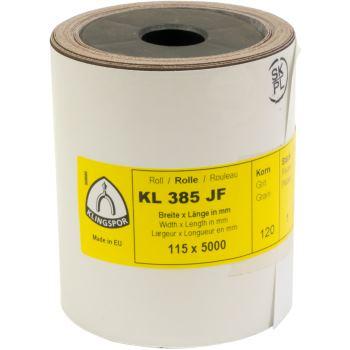 Schleifgewebe-Rollen, braun, KL 385 JF , Abm.: 115x5000 mm, Korn: 60