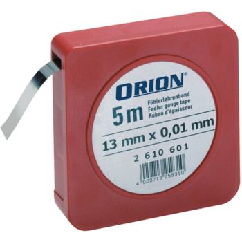 Fühlerlehrenband INOX 0,01 mm Nenndicke 13 mm x 5