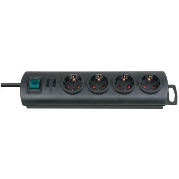 Primera-Line Steckdosenleiste 4-fach schwarz 1,5m H05VV-F 3G1,5
