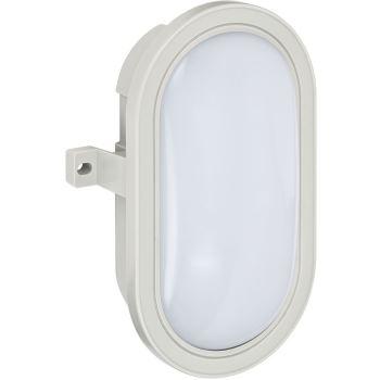 LED-Ovalleuchte L DN 3002 IP44 grau 5,5W 460lm Energieeffizienzklasse A+