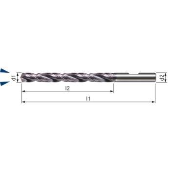 Vollhartmetall-TIALN Bohrer UNI Durchmesser 4,4 I