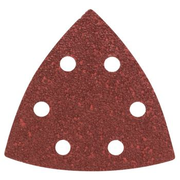 93mm Dreieck Schleifpapier gelocht 5 Stück Korn 180