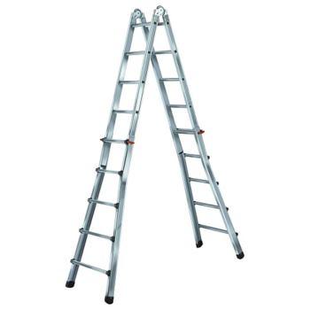 Teleskopleiter Aluminium 4x4 Sprossen, Höhe Stehle