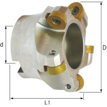 Planfräser/Profilfräser D= 80mm für Wendeschneidp