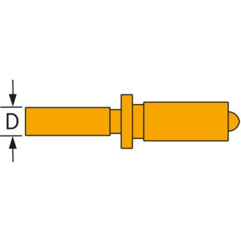 SUBITO fester Messbolzen Stahl für 18 - 35 mm, 34